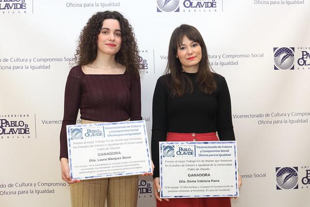 Primeros Premios en Estudios de Género e Igualdad