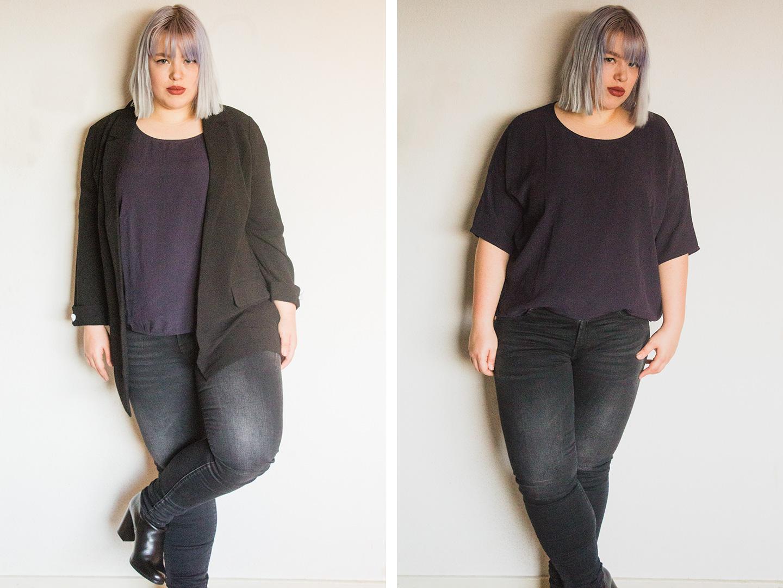 Outfit 1 met zwarte top