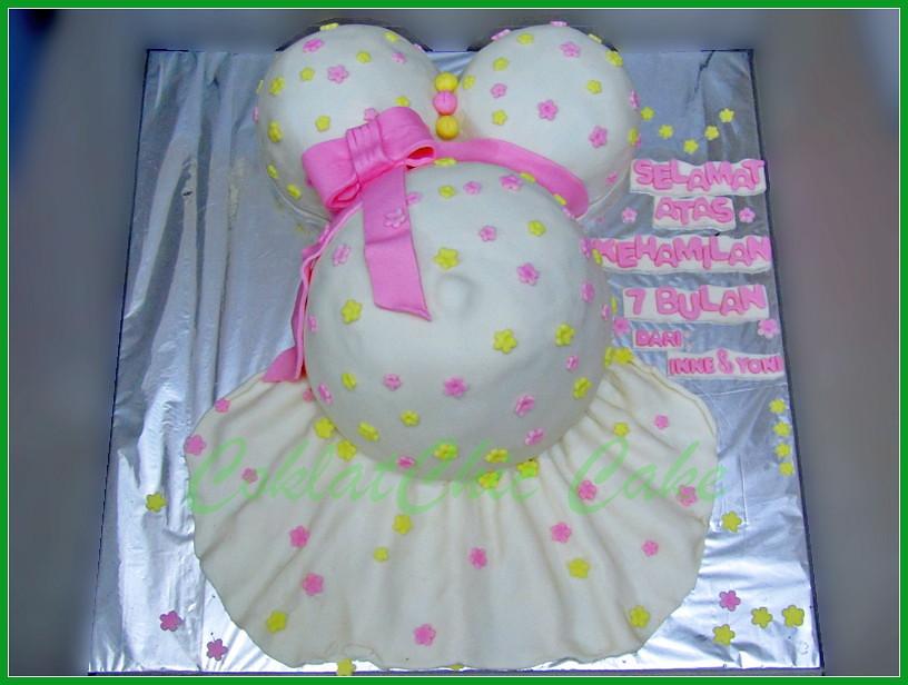 Cake Ibu Hamil 7 bulan 24 cm