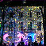 SNOW GLOW – Spectaculaires (FR), Hospice Pachéco de la rue de l`Infirmerie, Festival de lumières `Bright Brussels`, Bruxelles, Belgium