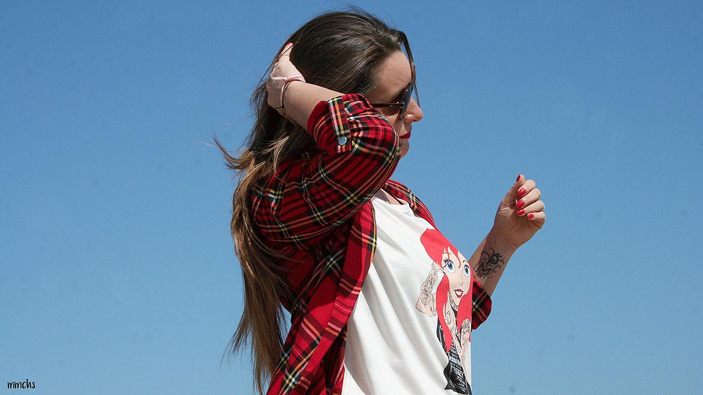 Americana roja de cuadros Escoceses, ¡perfecta para primavera!