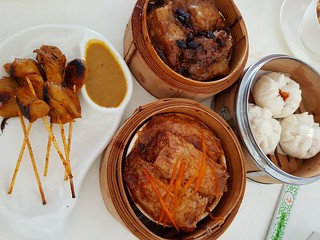 Satay Skewers, BBQ Pork Buns, Beancurd Rolls, Black Bean Eggplant at Easy House