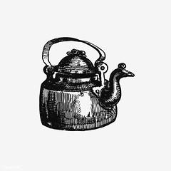 Vintage kettle illustration