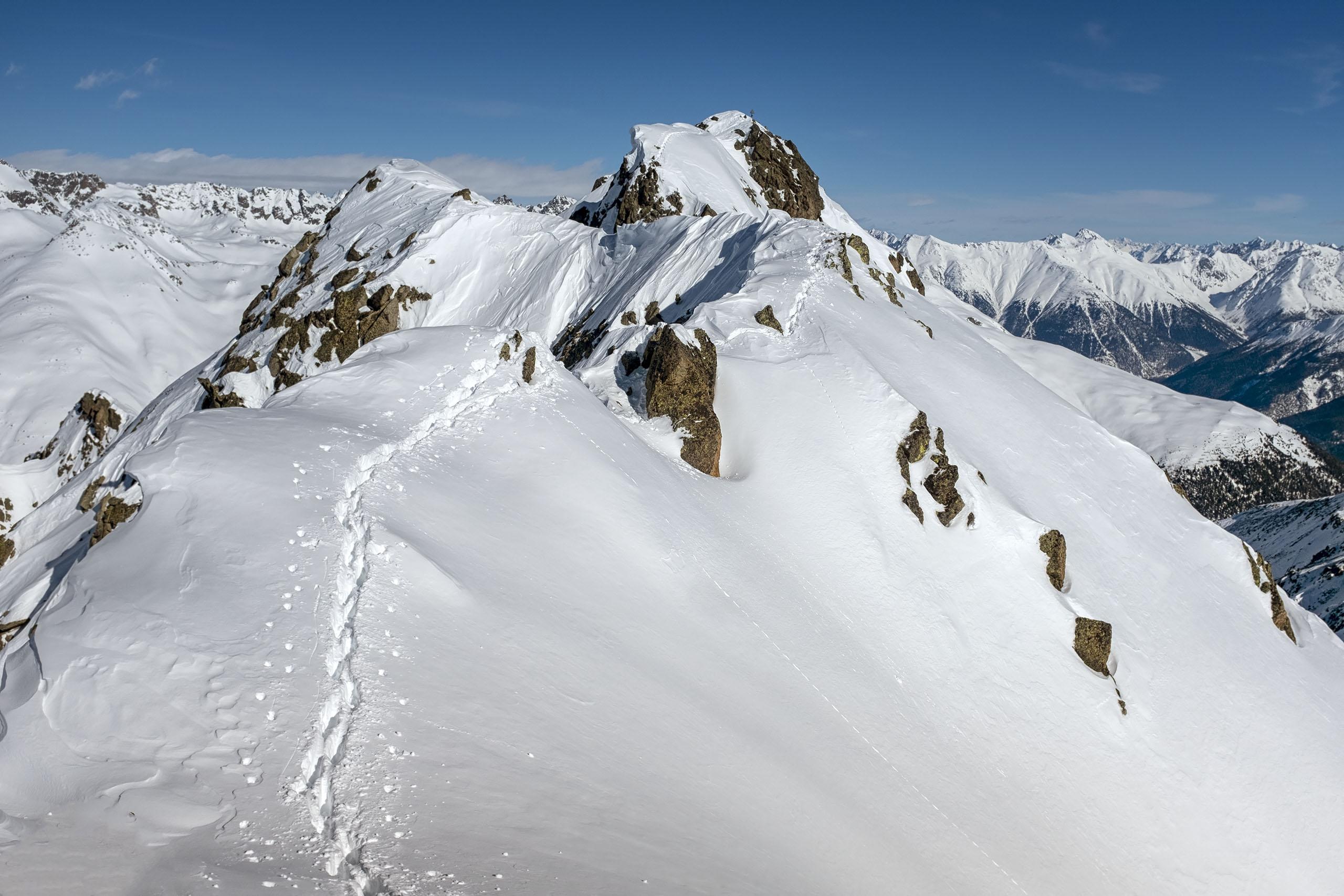 Scialpinismo al Piz Griatschouls: la cresta finale