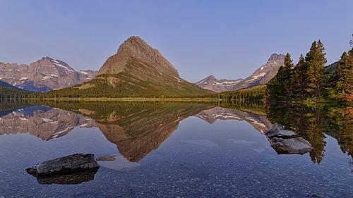 Sunrise at Swiftcurrent Lake, Glacier National Park (explored)