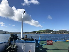 On the car ferry to Valentia Island