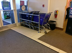 Mismatched logo Wolfchase Sears carts