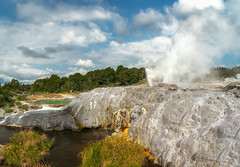Geothermal wonderland, Rotorua Geysers, New Zealand