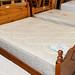 4'6 mattress white fabric E35
