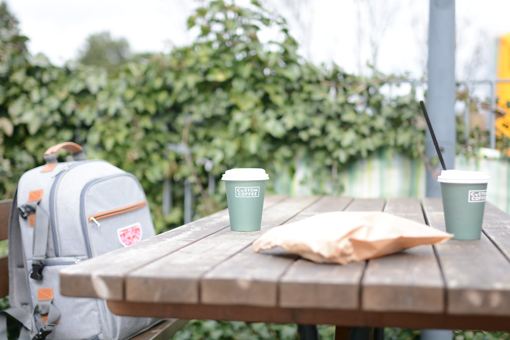 Coffee + Croissant before transit, Grøndal stop