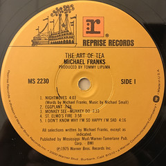 MICHAEL FRANKS:THE ART OF TEA(LABEL SIDE-A)