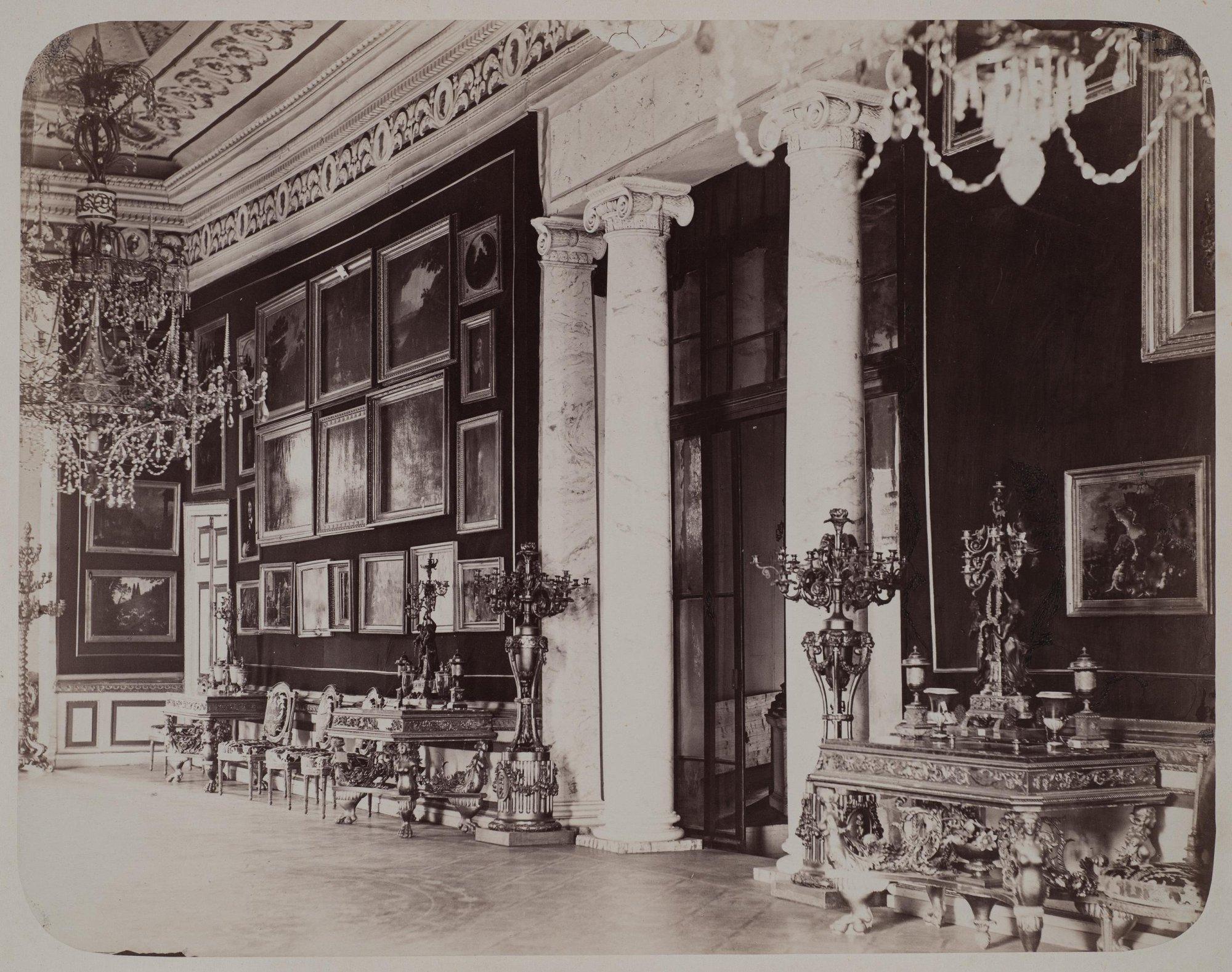 1870-е. Архангельское. Картинная галерея