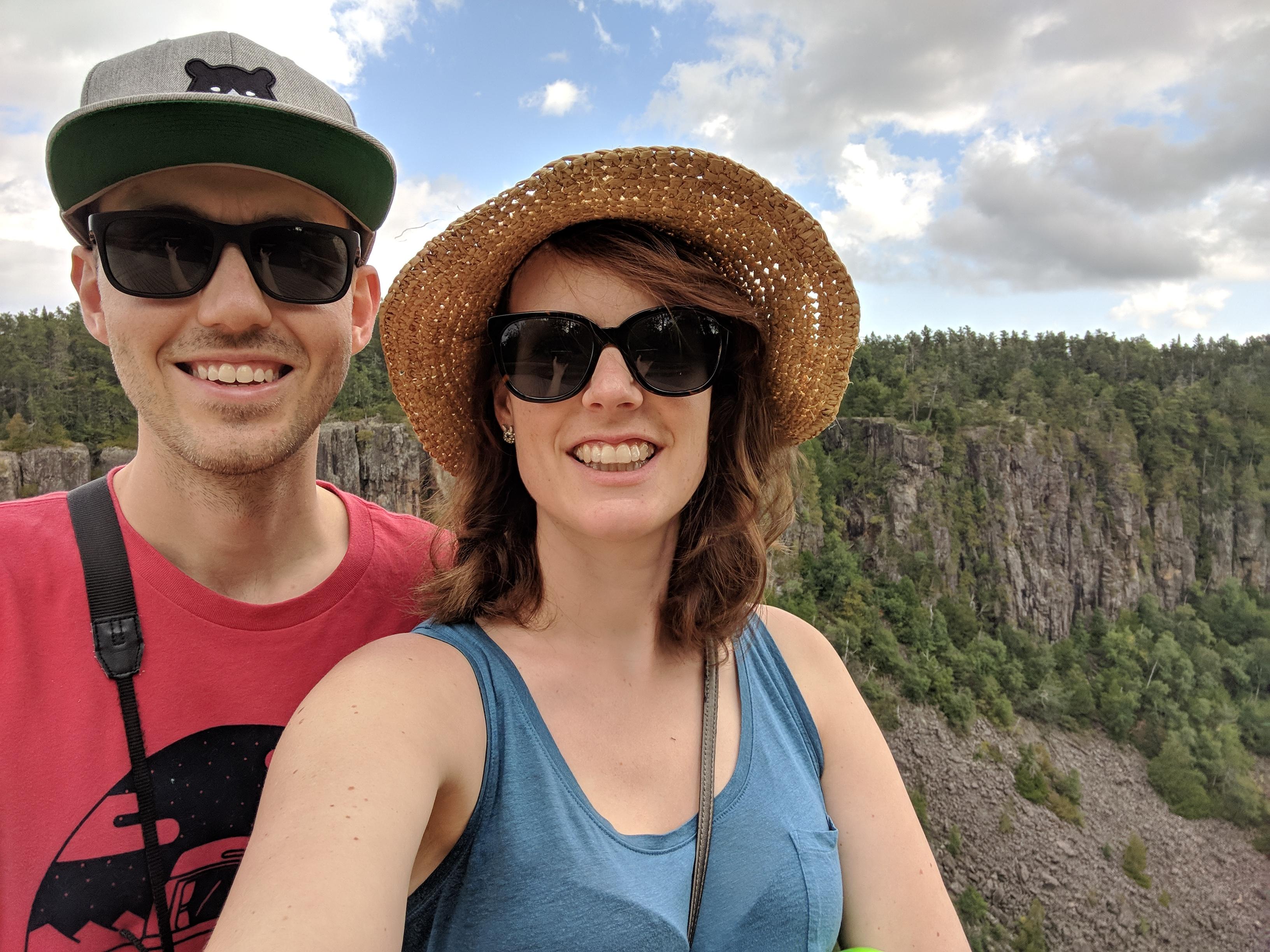 Selfie at Ouimet Canyon