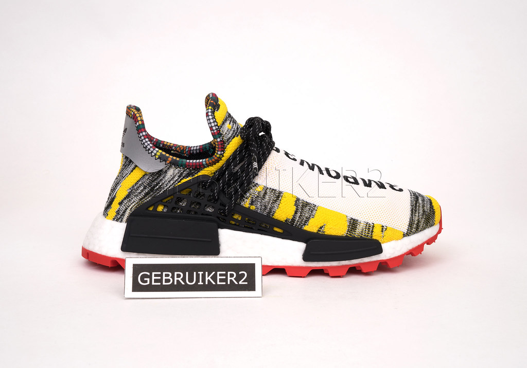 ae6fc2b0eac68 adidas Originals x Pharrell Williams PW Solar Hu NMD Afro Pack Red ...