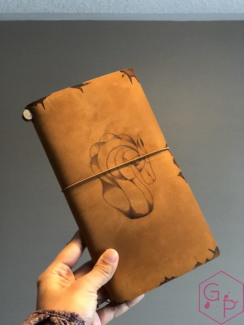 Toronto Pen Company Traveler's Notebook Leather Covers with Pyrography & Paintings 3