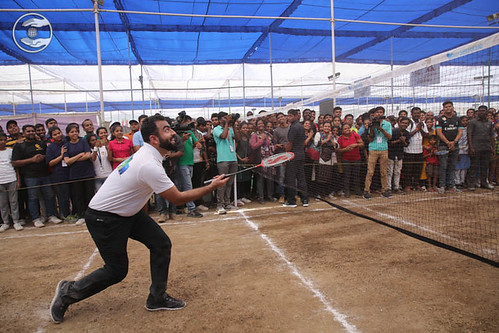 Rev Ramit Ji playing Badminton