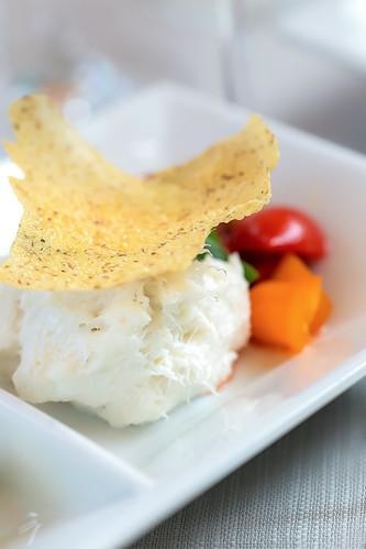 Starter | Veneta Recipe Cod, Italian Parmigiano Crisp, Fresh Tomatoes