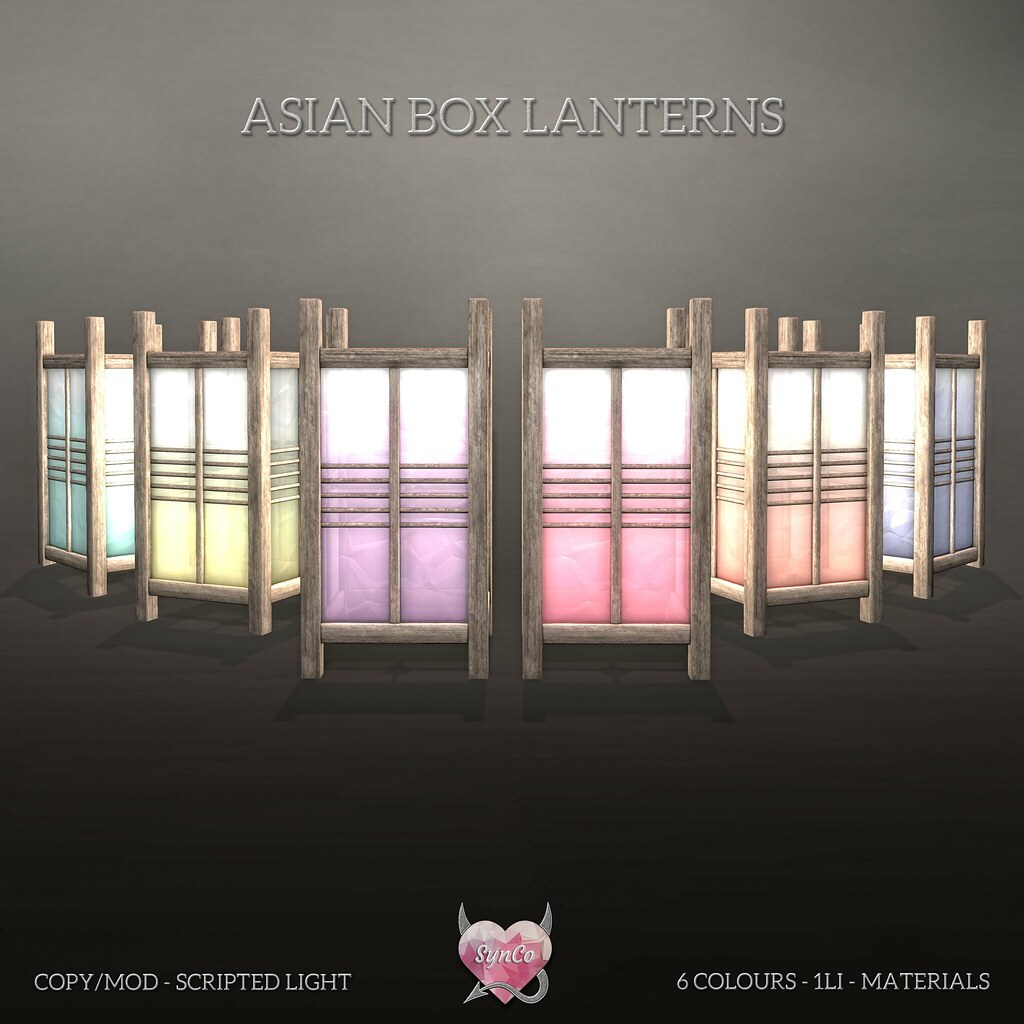 SynCo – Asian Box Lanterns