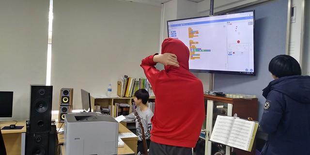 방과후 컴퓨터교실. 화북중학교