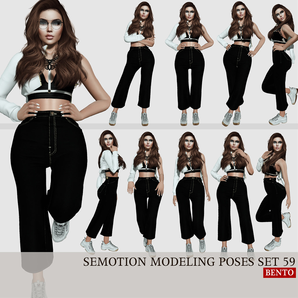 SEmotion Female Bento Modeling poses set 59