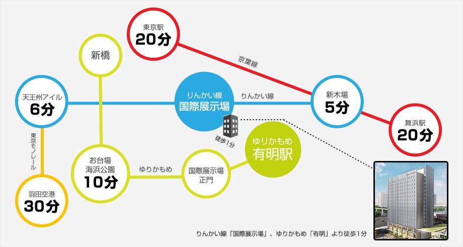 东京有明大和ROYNET饭店路线地图