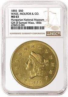 1855 Wass Molitor $50
