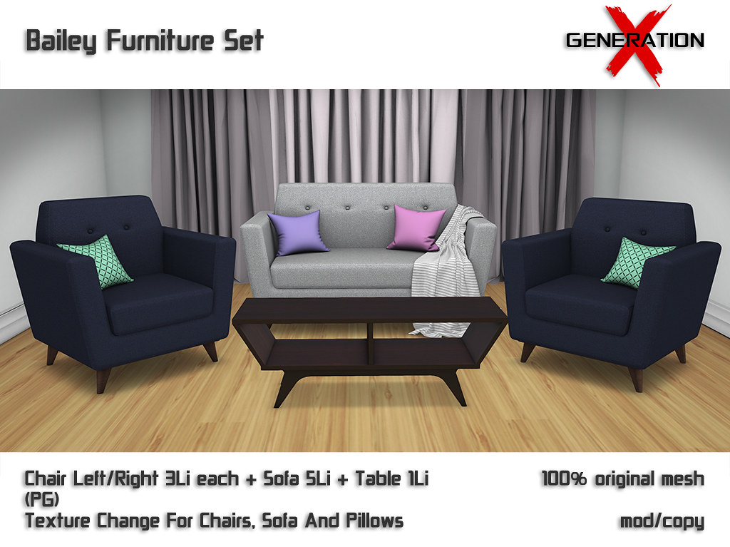 [ Generation X] Bailey Furniture Set @ Versus Event - TeleportHub.com Live!