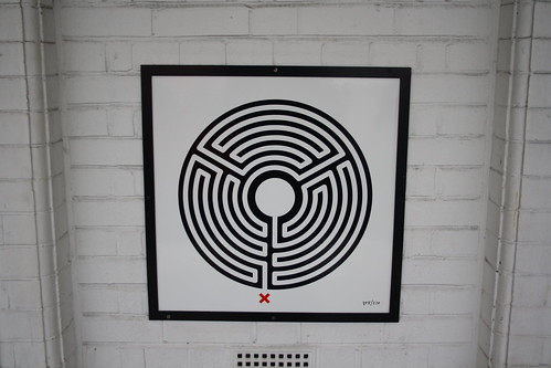 London Underground Labyrinth 48 Harlesden closeup