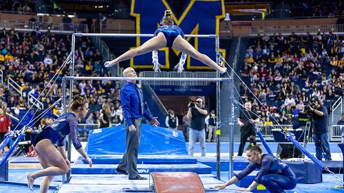 mgoblog-JD Scott-UofM Women's Gymnastics-Oklahoma University-Ann Arbor-March-2019-2-17