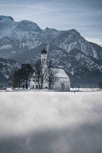 Sunny Winter Day at St. Coloman from Toni Hoffmann