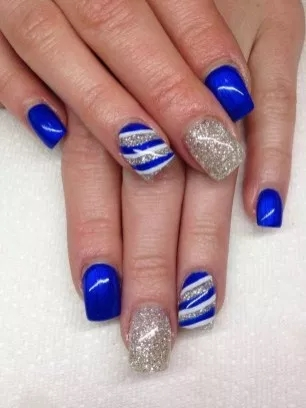 sweet and sexy blue nail design for girls  fashion 2d