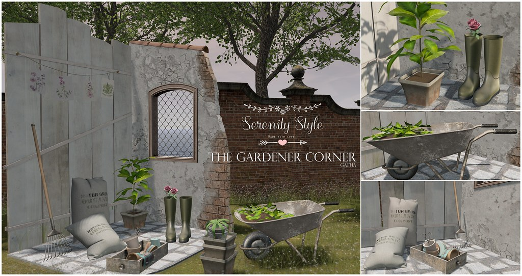 Serenity Style- The Gardener Corner Advert