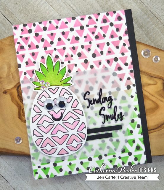 Jen Carter Pineapple and Smiles - Wild Thing - Wonky Triangles