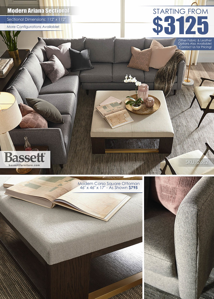 Ariana Sectional by Bassett_2682-61-63-30B