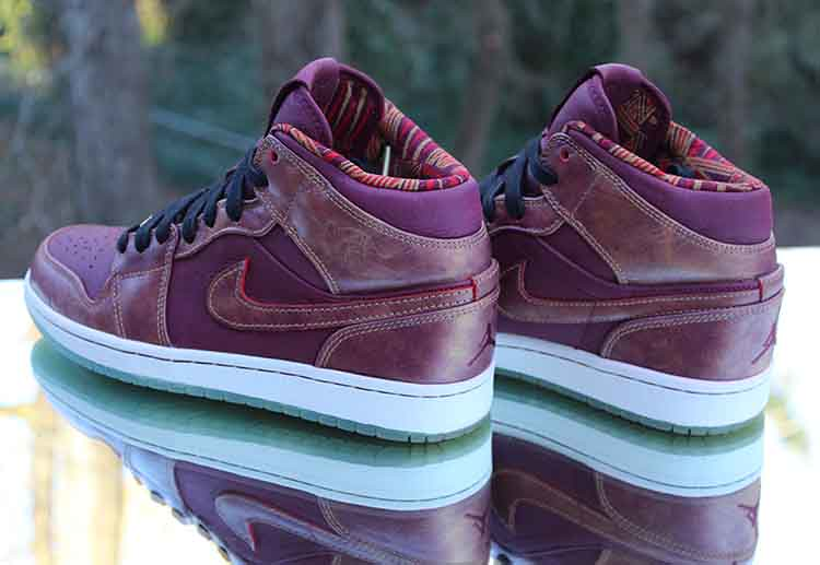 pretty nice f8c39 32053 ... Nike Air Jordan 1 Retro Mid BHM Deep Garnet 647561-605 Men s Size 8