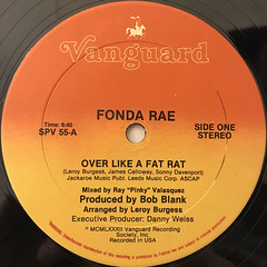 FONDA RAE:OVER LIKE A FAT RAT(LABEL SIDE-A)