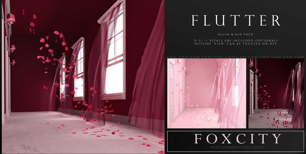 FOXCITY. Photo Booth – Flutter Blush & Red Pack