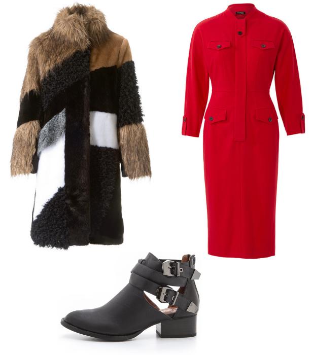 Retro Dress Fur Coat