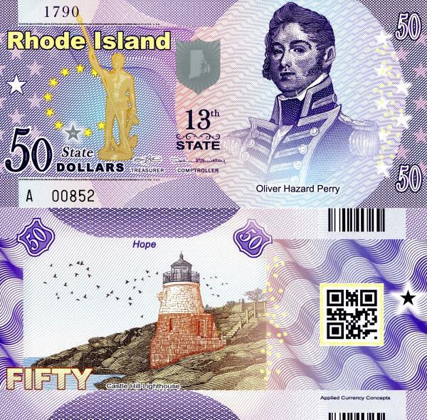USA 50 Dollars 2015 13. štát - Rhode Island