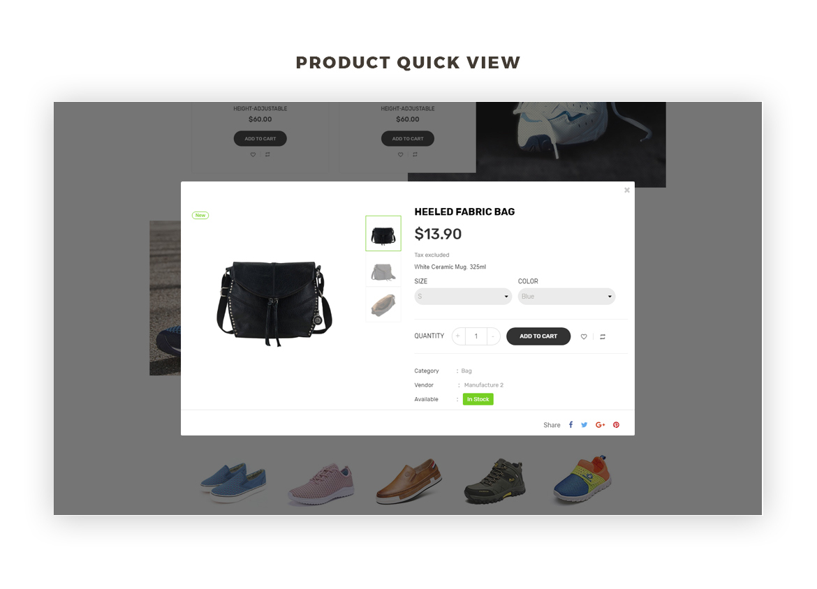 product quickview-Bos Idu Prestashop theme-Shoes, Handwatch, Fashion Store