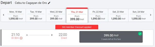 AirAsia Cebu to Cagayan de Oro