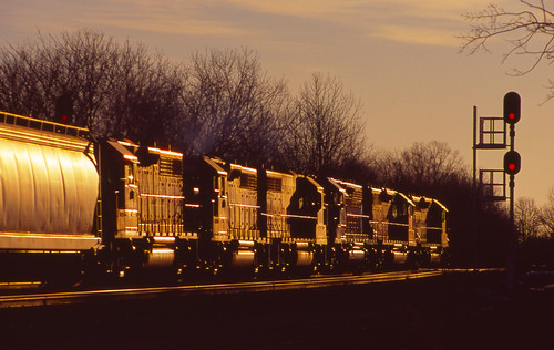 Early Morning Freight Train