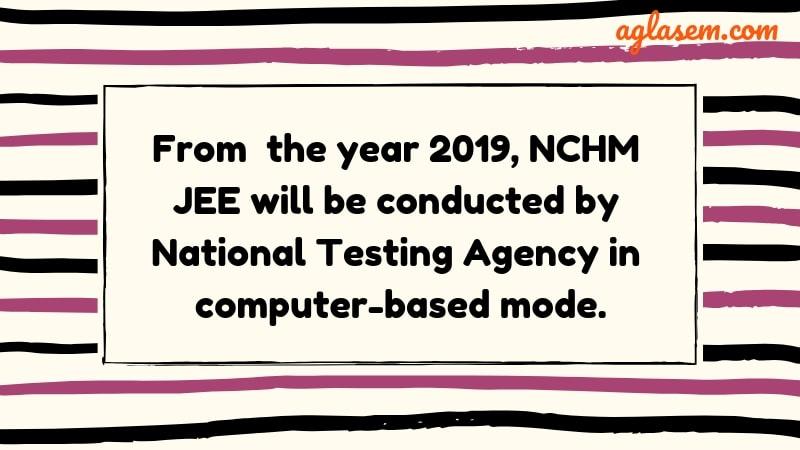 NCHM JEE 2019