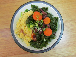 Southern Beans and Grits Bowl with Collards