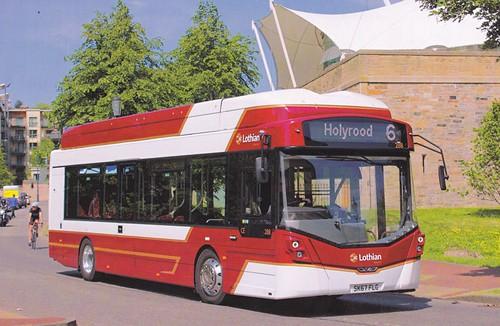 SK67 FLG 'Lothian Buses' No. 288. Wright StreetAir EV / Wright on Dennis Basford's railsroadsrunways.blogspot.co.uk'