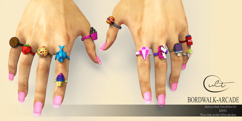 : CULT :  BORDWALK ARCADE RINGS-