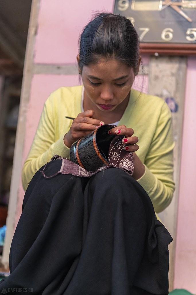 Woman handworking - Bagan