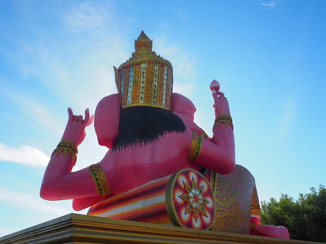 P1020552 Wat Saman Rattanaram(ワット・サマーン・ラッタナーラーム) ピンクガネーシャ バンコク Bangkok ひめごと