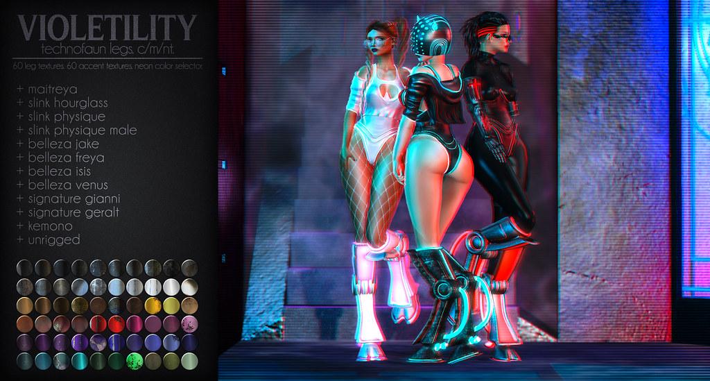 Violetility - TechnoFaun Legs - TeleportHub.com Live!