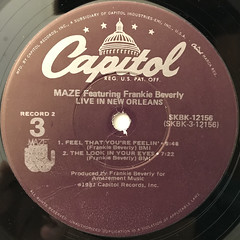 MAZE featuring FRANKIE BEVERLIE:LIVE IN NEW ORLEANS(LABEL SIDE-D)